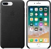 Apple Lederen Back Cover voor iPhone 7/8 Plus - Zwart
