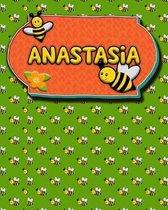 Handwriting Practice 120 Page Honey Bee Book Anastasia