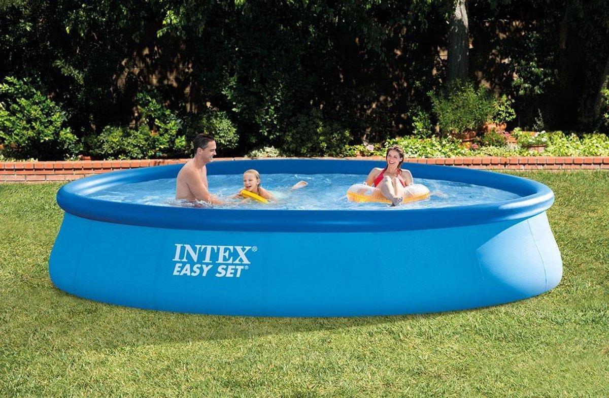 Intex Easy Set Opblaaszwembad Met Filterpomp 457 Cm Blauw