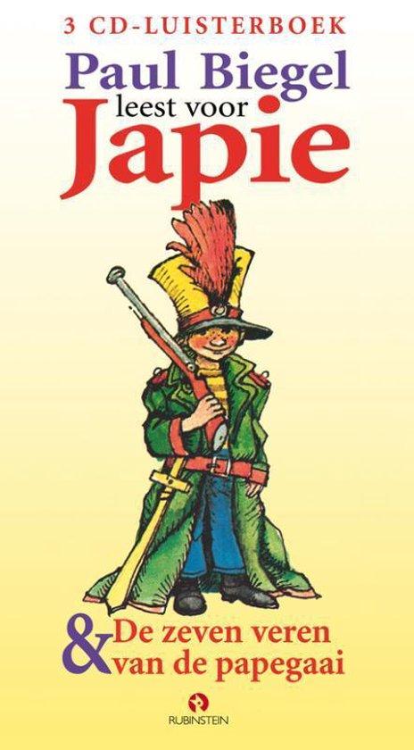 Japie & De zeven veren van de papegaai - luisterboek - Paul Biegel |
