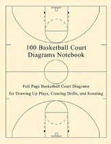 100 Basketball Court Diagrams Notebook