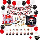 Complete set kinder Piraat accessoires Feest versiering – Verjaardag – Versiering – Piraten – Feestartikelen – Kinderfeestje - partijtje