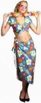 Toppers Crazy Summer Dames Hawaii topje met rok basis kleur blauw in de maat 42