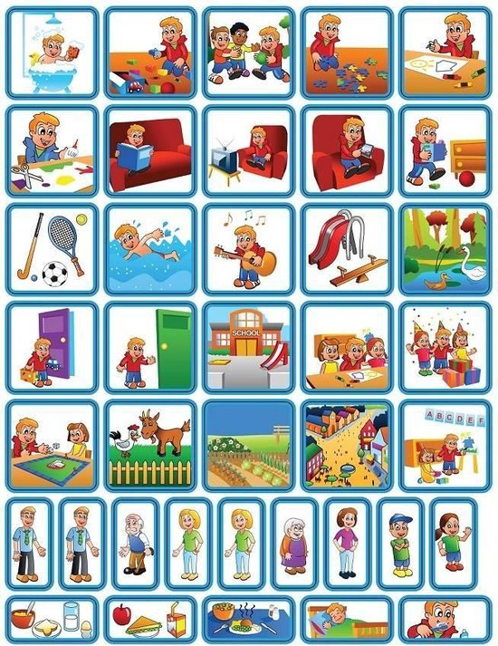 Afbeelding van het spel Pictogrammen magneetjes dagsetje jongen