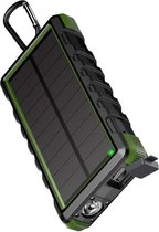 24.000 mAh Waterdichte Outdoor Solar Powerbank - Groen