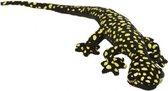 Pluche gekko zwart met gifgroen 62 cm