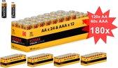 Kodak Xtralife alkaline AA AAA 1.5V Powerbox - 180 Stuks (120x AA + 60x AAA)