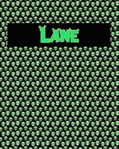 120 Page Handwriting Practice Book with Green Alien Cover Lane