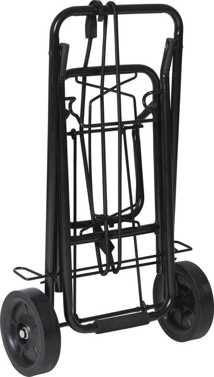 Bo-Camp Steekwagen opvouwbaar & inklapbaar - Staal 35 Kg Zwart