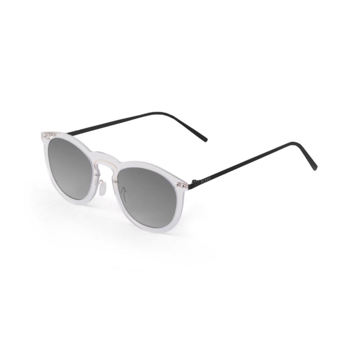 Ocean Sunglasses - Zonnebril - Unisex - 20-27_BERLIN_TRANSPARENTWHITE-SMOKE - Ocean Sunglasses
