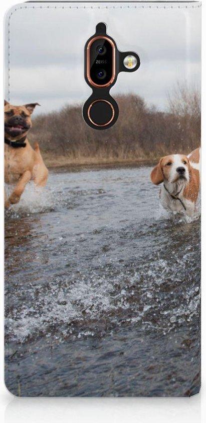 Nokia 7 Plus Standcase Hoesje Design Honden