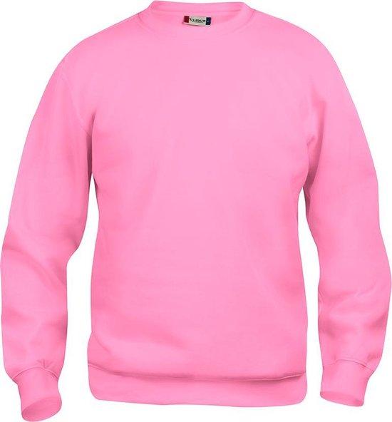 Clique Basic roundneck Helder Roze maat M