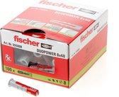 Fischer DUOPOWER plug 8x40 100 st zonder schroef