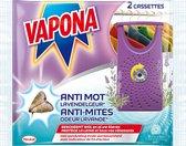 VAPONA Insecten Bestrijding - Anti Mot Cassette Lavendelgeur 2 stuks