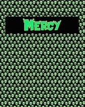 120 Page Handwriting Practice Book with Green Alien Cover Mercy