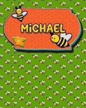 Handwriting Practice 120 Page Honey Bee Book Michael