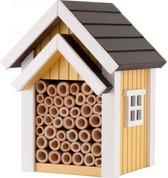Bijenkast voor solitaire bijen geel