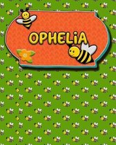 Handwriting Practice 120 Page Honey Bee Book Ophelia