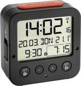 TFA Dostmann 60.2528.01 Wekker Zendergestuurd Zwart Alarmtijden: 2
