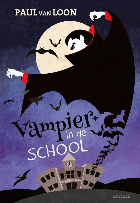 Boek cover Vampier in de school van Paul van Loon (Hardcover)