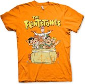 THE FLINTSTONES - T-Shirt Flintstones Family - Orange (L)