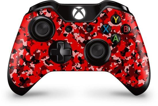 Xbox One Controller Skin Camo Rood Sticker