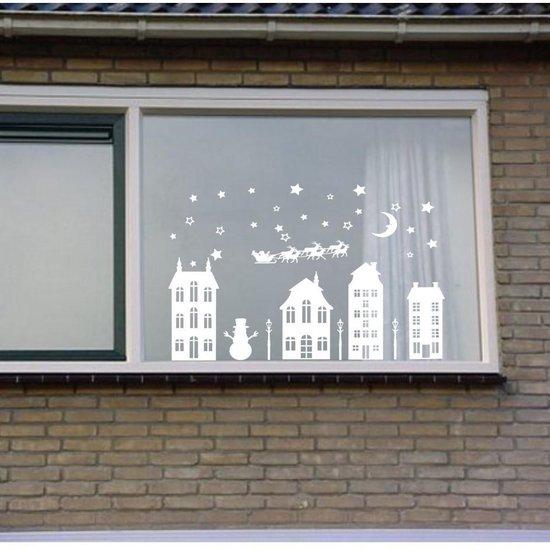 Bol Com Raamsticker Kerst Sticker Kerst Decoratie Kerst Huisjes Raam Decoratie Kerst