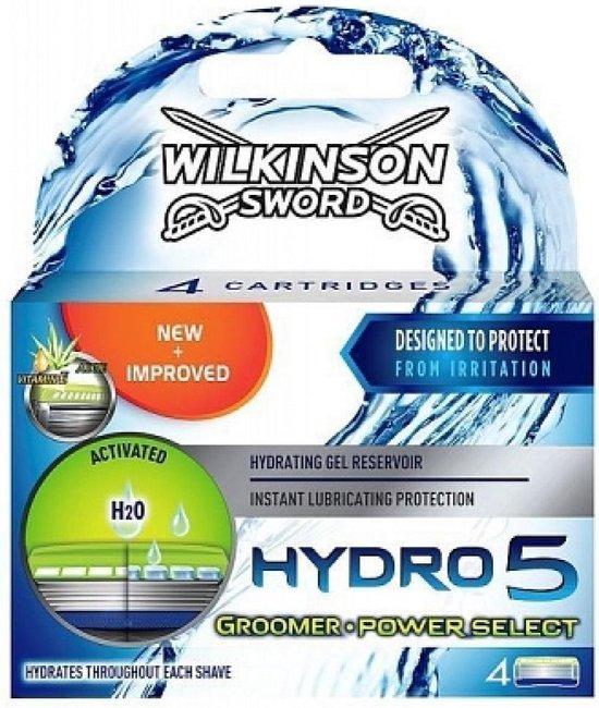 Wilkinson Hydro 5 Scheermesjes - Groomer Power Select 4 Stuks