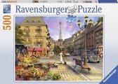 Ravensburger puzzel Wandeling door Parijs - Legpuzzel - 500 stukjes
