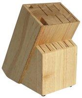Houten messenblok zonder messen Coninx RAF - Messenhouder Rubberhout - Bruin
