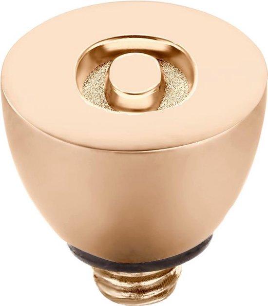 Melano Twisted steentje - letter O - dames - roségoudkleurig - 6 mm - Melano Jewelry