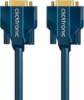 ClickTronic 15m VGA Connection VGA kabel VGA (D-Sub) Blauw, Goud