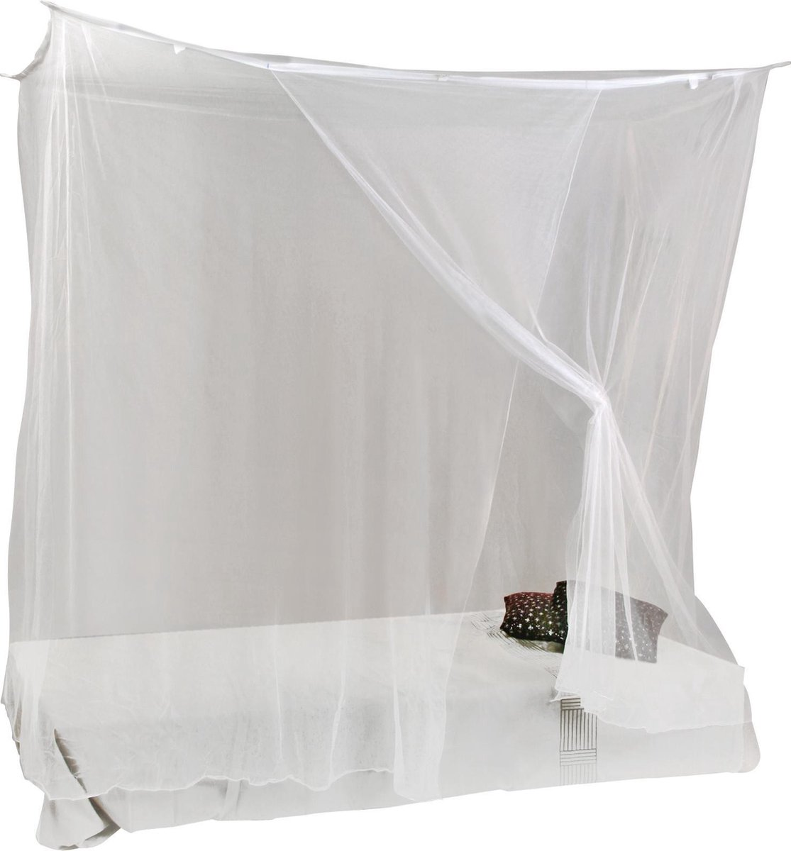 Budget-line 'SOLITAIRE' klamboe-polyester-1pers - H200xB100xL200-wit