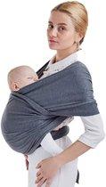 Maoo Premium Baby Draagdoek - Extra Rekbaar - Extra Zacht - Kindvriendelijk - Grijs