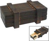 Magische houten kist met geheime lade