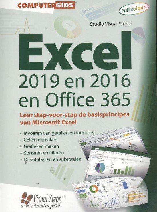 Computergidsen - Computergids Excel 2019, 2016 en Office 365 - Studio Visual Steps |