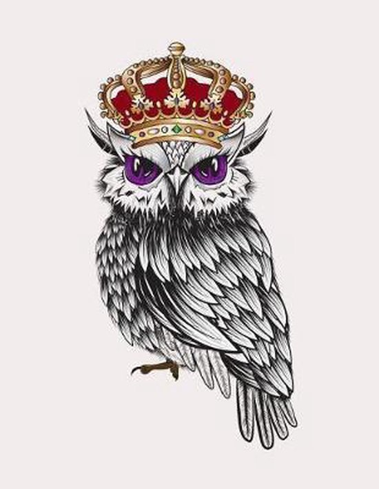 Majestic Queen Owl Graph Paper Notebook