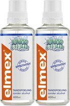 2x Elmex Junior (5-12 Jaar) Tandspoeling 400 ml