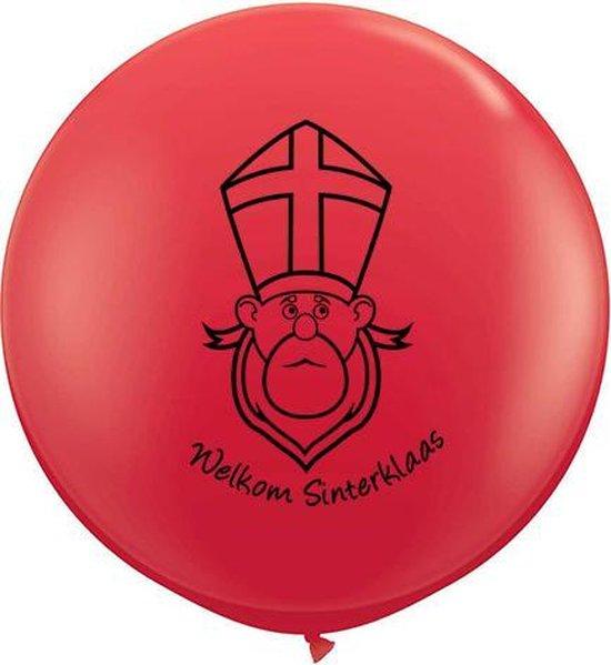 """Ballon """"Welkom Sinterklaas"""" Rood (helium)"""