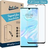 Just in Case Full Cover Tempered Glass Huawei P30 Lite / P30 Lite New Edition Protector - Zwart