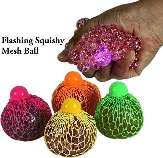 Afbeelding van het spel Squishy Stress Ball Mesh LED Glitter