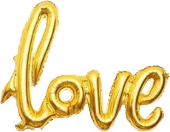 Folie ballon goud als tekst love 108*65.5 cm