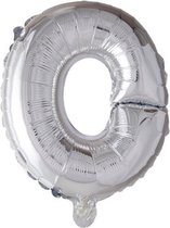 letterballon - 100 cm - zilver - O
