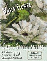Water Flower Cross Stitch Pattern
