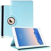 Apple iPad Air 2 / iPad 6 PU faux lederen 360 graden rotatie hoes / case / hoesje lichtblauw - Merk Westerhuis & van Andel huismerk