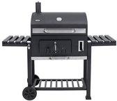 Tepro Toronto XXL Houtskoolbarbecue - met Inzetrooster - RVS/Zwart