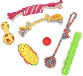 Honden speelgoed - puppy speelgoed - honden speeltjes - speelgoed hond - hondenspeelgoed 7 PACK