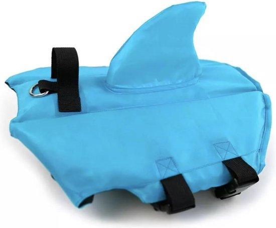 """Honden zwemvest """"Haai"""" - Zwemvest voor honden - Blauw - Maat XL"""