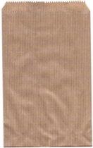 Papieren zakjes, 7 x 13 centimeter, bruin 50 stuks