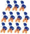 Herbruikbare oranje Oordoppen met koord - gehoorbescherming - Oranje 10x stuks / 25db  ®